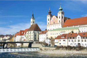 Blick auf Stadt Steyr