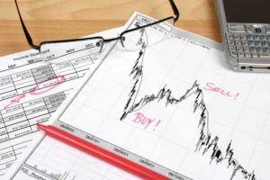Aktienkurs auf Optionsvertrag